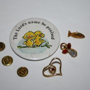 Vintage religious pin lot of 4